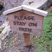 Sign observed—with humor—on the Multiple Religious Belonging conference outing to the Japanese Garden at the Seattle Arboretum.